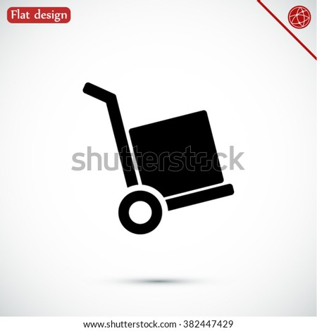 handcart  vector icon - stock vector