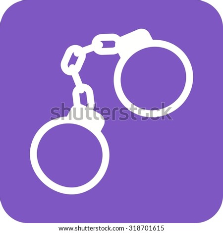 Handcuffs, arrested, criminal icon vector image.Can also be used for law and order. Suitable for mobile apps, web apps and print media. - stock vector