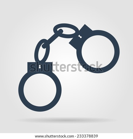 handcuffs icon. Flat vector illustrator Eps 10 - stock vector