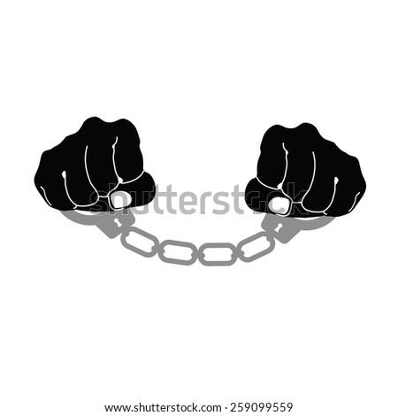 handcuffs prison vector illustration - stock vector