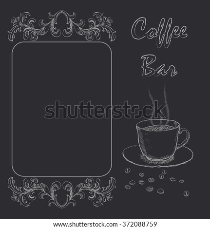 Handdrawn menu for cafe, coffee house - stock vector