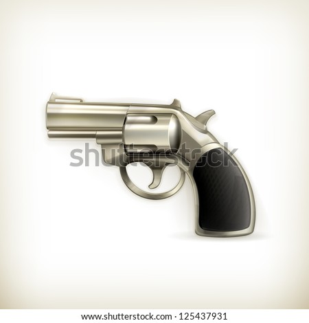 Handgun, vector - stock vector