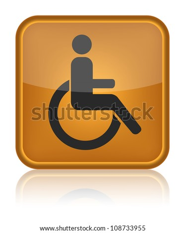 handicap or wheelchair person symbol, vector - stock vector