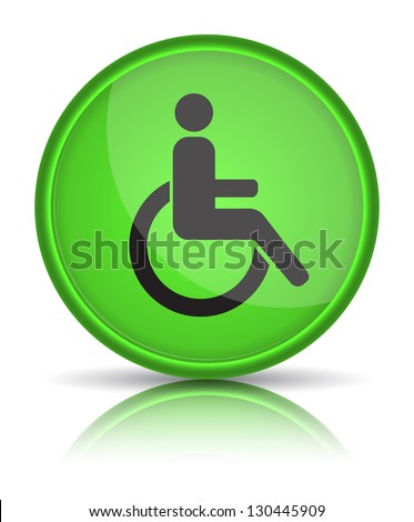 handicap or wheelchair person symbol, vector illustration - stock vector