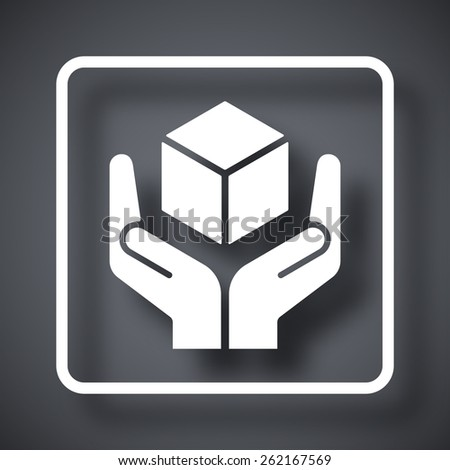 Handle with care packaging symbol - stock vector