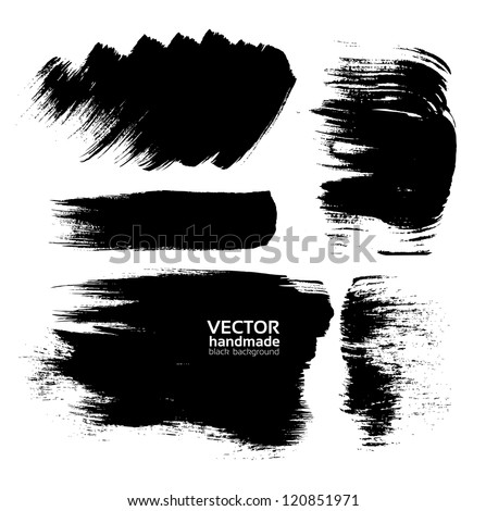 Handmade abstract textures background from brush strokes - stock vector