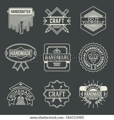 Set Modern Vintage Blacksmith Metalworks Badge Stock