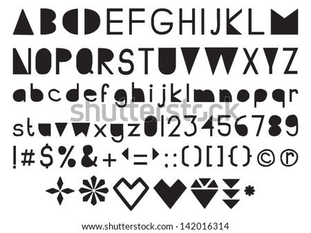 Handmade cut out letters font stock photo photo vector handmade cut out letters font spiritdancerdesigns Image collections