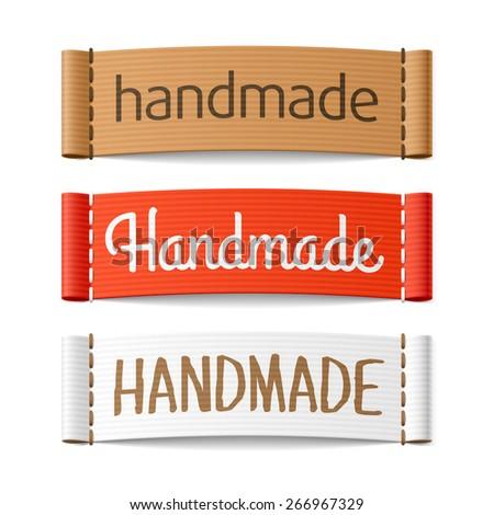 Handmade labels. Vector. - stock vector