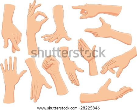 Hands. - stock vector