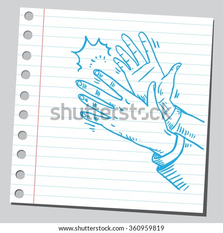 Hands applauding - stock vector