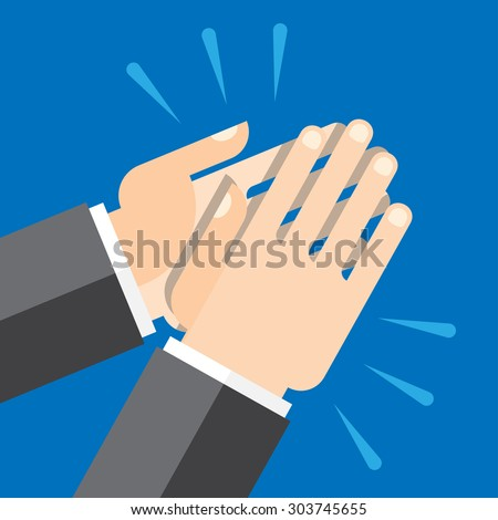 Hands clapping symbol. Vector for mobile apps, Web sites and print projects. - stock vector