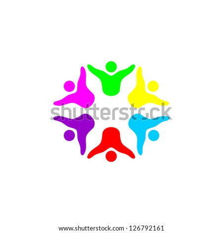 Hands connecting icon - stock vector