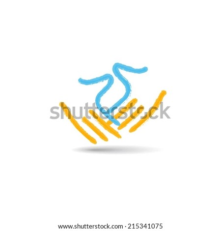 Hands design vector - stock vector