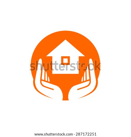 Lecosta 39 s hands logo set on shutterstock - Home health care logo design ...