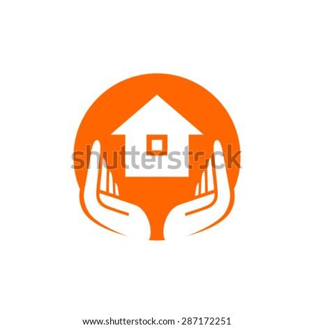 Lecosta 39 s hands logo set on shutterstock - Home health care logo design ...