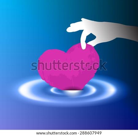 Infant Jesus Heart Manger Light Glowing Stock Vector ...