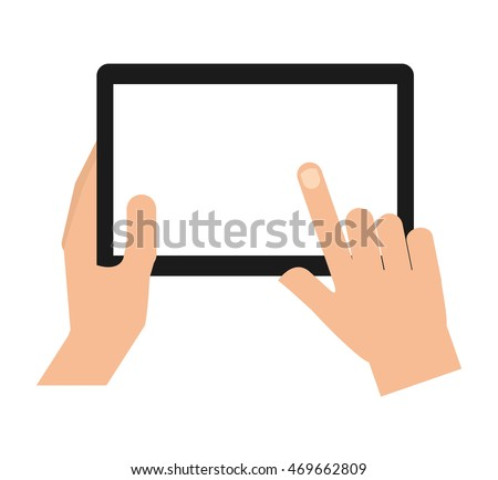 hands human user smartphone isolated icon vector illustration design