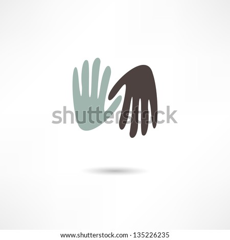 hands icon - stock vector