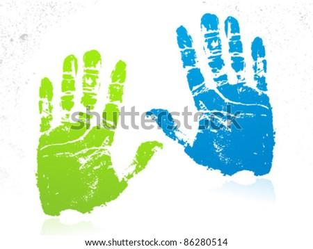 Hands Illustration - stock vector