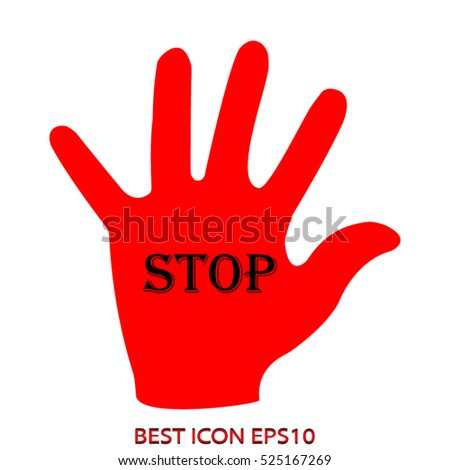 hands, palms, vector icon, eps10