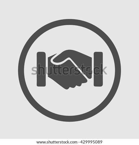 Hands shaking vector. Handshake icon. Business deal logo. Partnership symbol. - stock vector