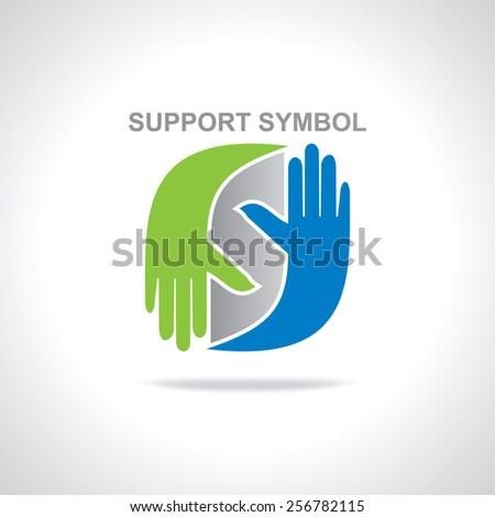 hands supporting idea concept  - stock vector