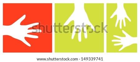 hands vector illustration - stock vector