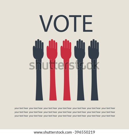 Hands vote. - stock vector