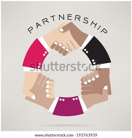 Handshake abstract  design template. Business concept.Partnership symbol.vector illustration - stock vector