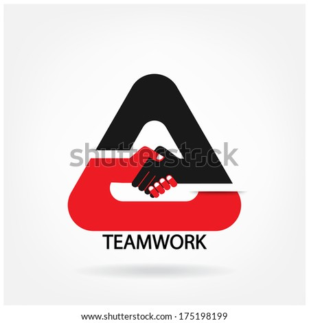 Handshake abstract design vector design template. Business creative concept. Deal, contract, team, cooperation symbol icon - stock vector