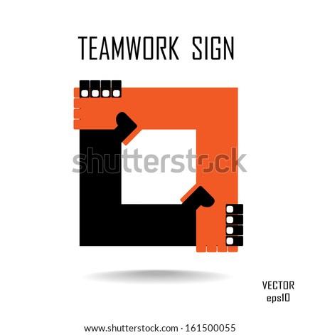 Handshake abstract logo vector design template. Business creative concept. Deal, contract, team, cooperation symbol icon  - stock vector
