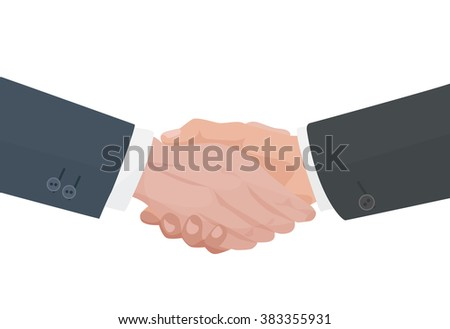 Handshake agreement. Business and finance vector illustration. - stock vector
