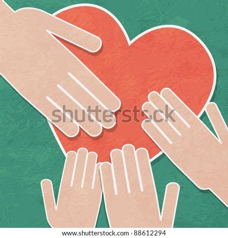 handshake background - stock vector