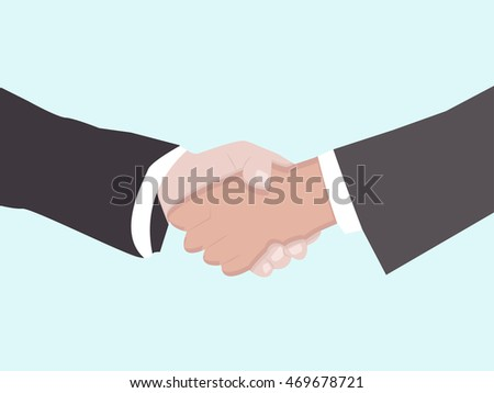 handshake business vector