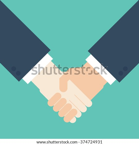 handshake businessman agreement. Vector illustration flat style.