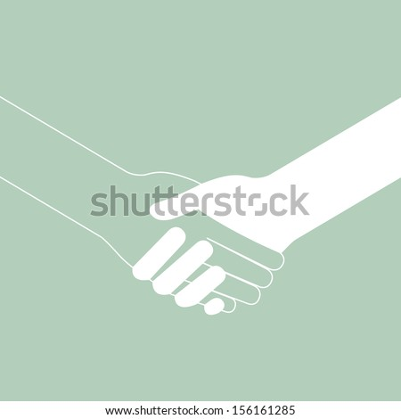 handshake connecting teamwork icon concept isolated vector