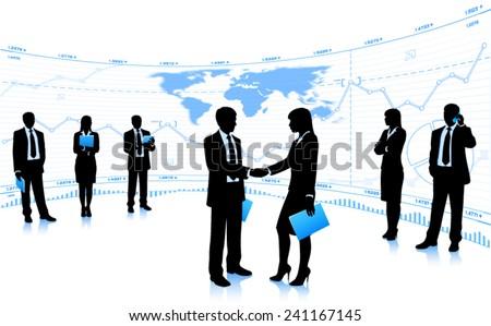 Handshake. (EPS10 vector) - stock vector