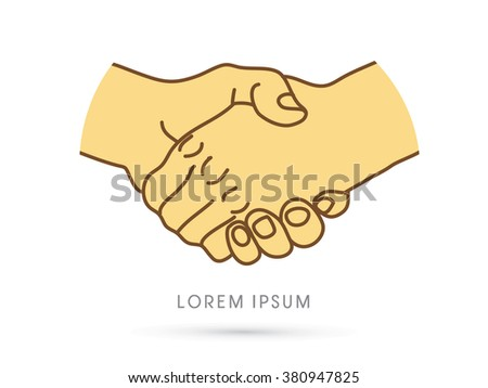 Handshake graphic vector.