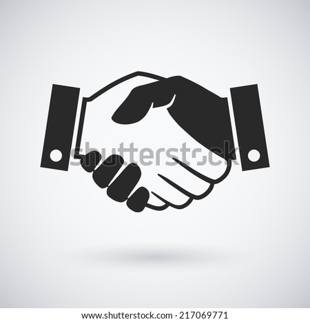 Handshake icon - stock vector