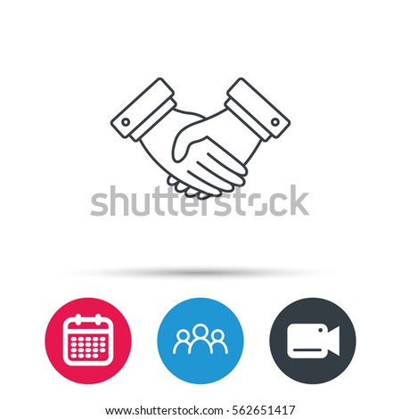 Handshake Icon Deal Agreement Sign Business Stock Vector Royalty