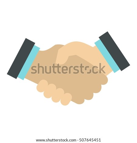 Handshake icon. Flat illustration of handshake vector icon for web