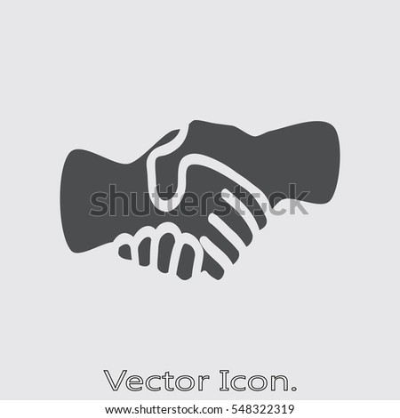 Handshake icon isolated sign symbol and flat style for app, web and digital design. Vector illustration.
