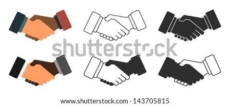 Handshake icon vector illustration - stock vector