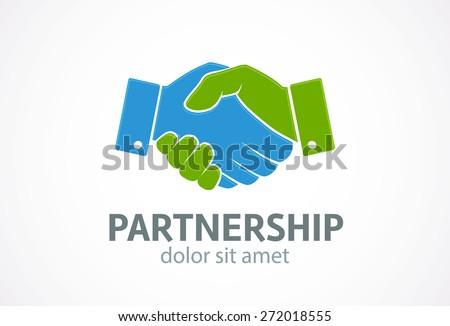 Handshake icon. Vector. Partnership concept. - stock vector