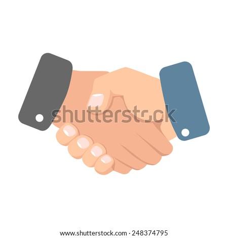 Handshake illustration - stock vector