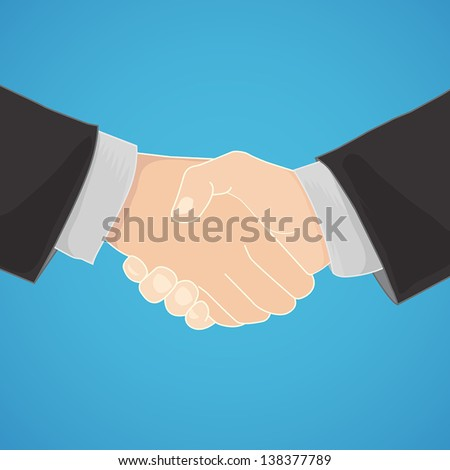 handshake in a businesslike manner