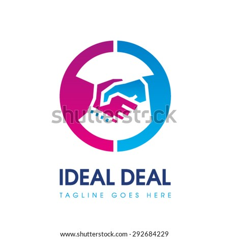 Handshake logo - stock vector