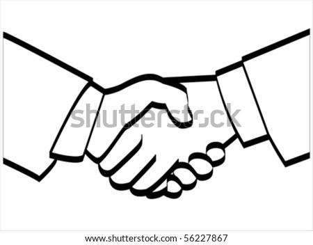 Handshake of Business partnership, together and helping concept.Give icon isolated on white, vector