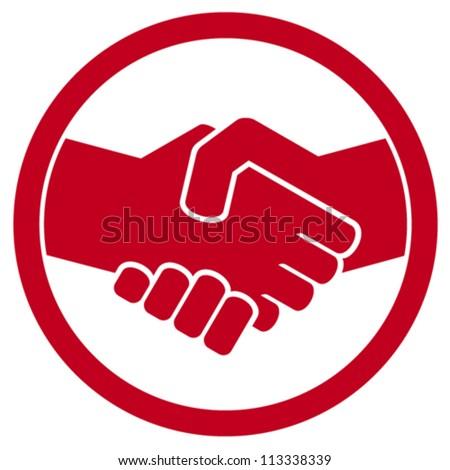 handshake symbol (sign) - stock vector